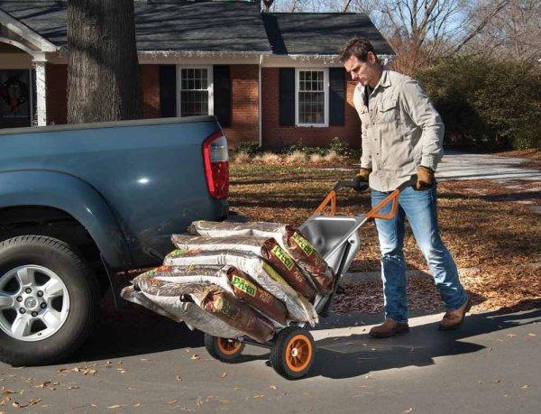 Дополнительные направляющие позволяют перевозить не только тяжелые, но и габаритные грузы.