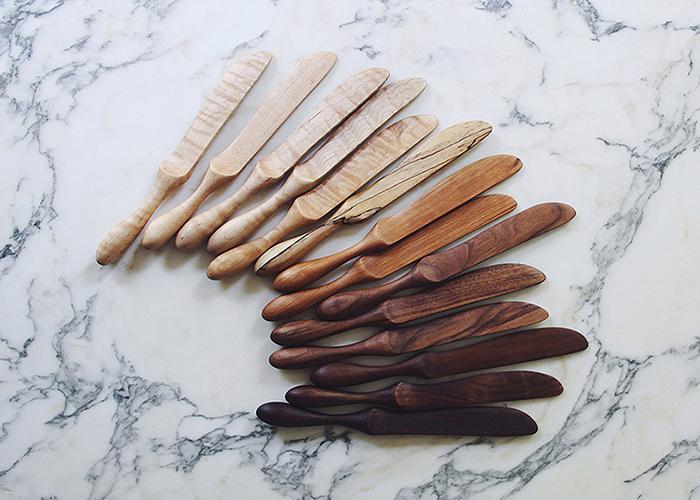Лаконичная деревянная посуда.