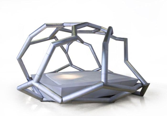 Геометрическая кровать от Jacob+MacFarlane.