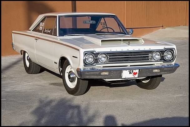 Плимут 1967 года RO23 GTX
