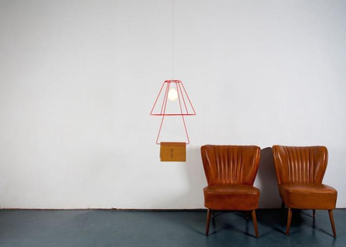 Оригинальный светильник-закладка.
