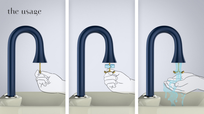 Способ включения воды в кранике от Саранга Шет (Sarang Sheth).