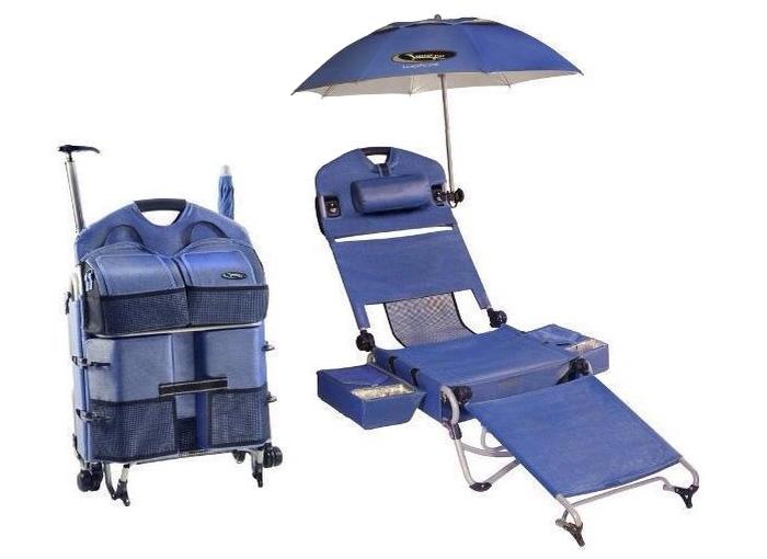 Кресло-трансформер для пляжного и загородного отдыха.