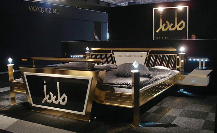 Кровать Jado Steel Style Gold Bed