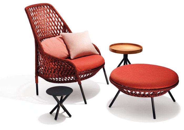 Комплект плетеной мебели из текстильных нитей от DEDON.