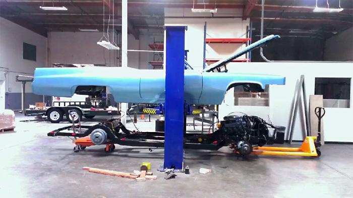 Установка ходовой на Cadillac Coupe DeVille 1969