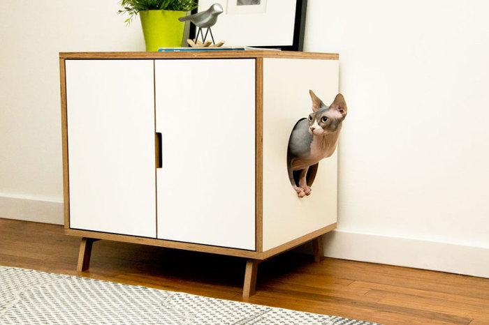 Комод с выходом для кота от modernistcat.