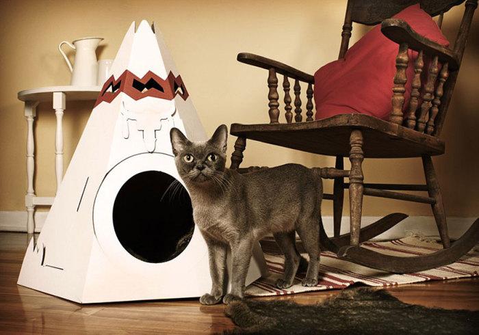 Кошачий вигвам от Loyal Luxe.
