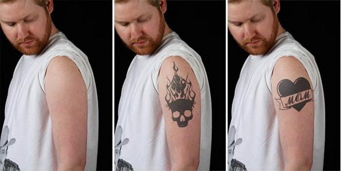 MoodInq – динамическая татуировка, основанная на технологии E-Ink