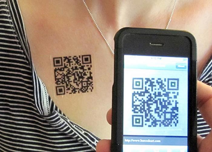 Татуировки с QR-кодом
