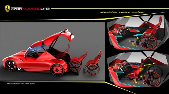 Ferrari Numero UNO – спорткар для инвалидов