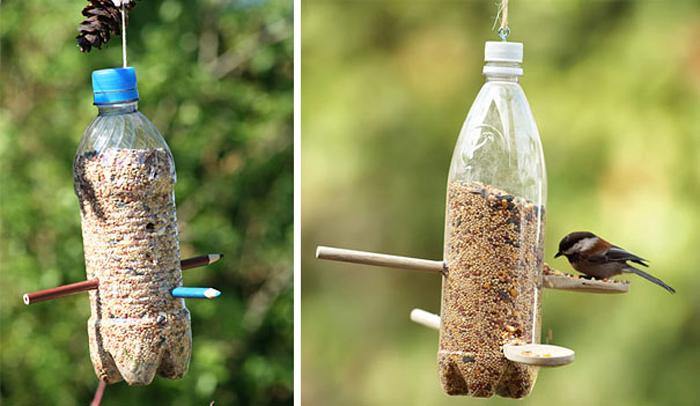 Забавные поделки из пластиковой бутылки.