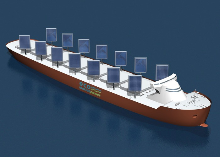 Eco Marine Power – баржа с солнечными парусами