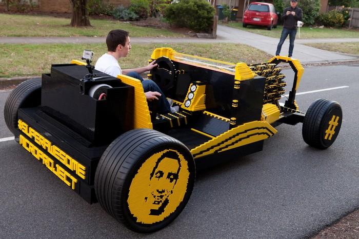 Super Awesome Micro Project – самодельный пневмомобиль из LEGO