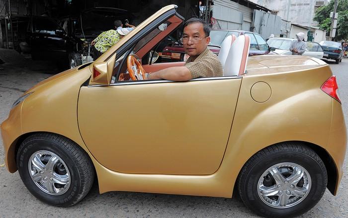 Angkor 333 – самодельный электромобиль из Камбоджи