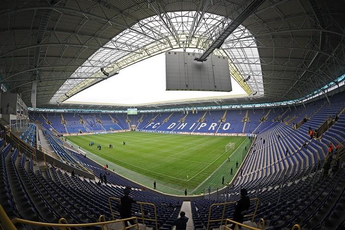Днепр-Арена - домашний стадион футбольного клуба Днепр Днепропетровск