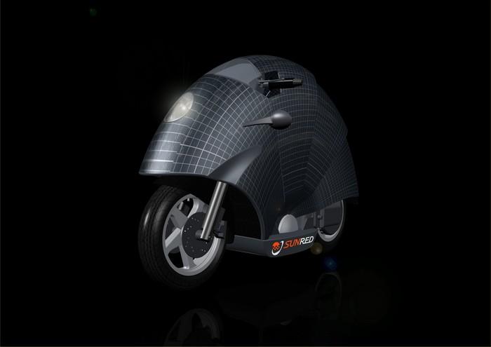 SunRed Luna – мотоцикл на солнечных батареях