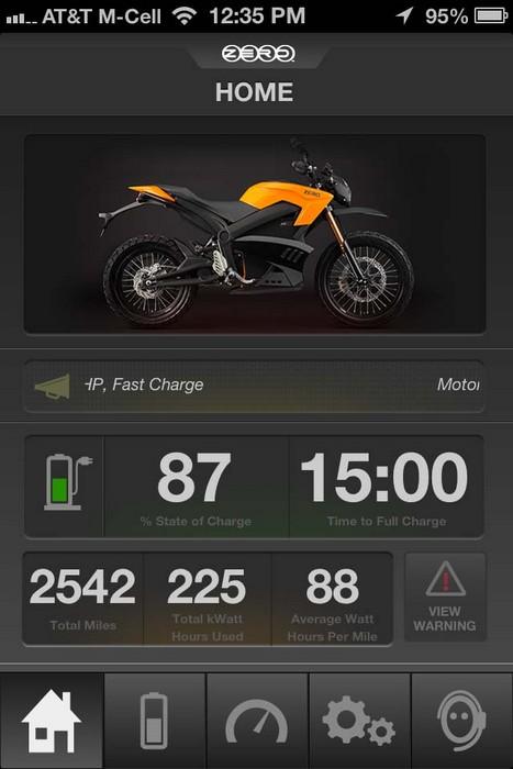 Zero Motorcycles App – мобильное приложение для управления мотоциклом