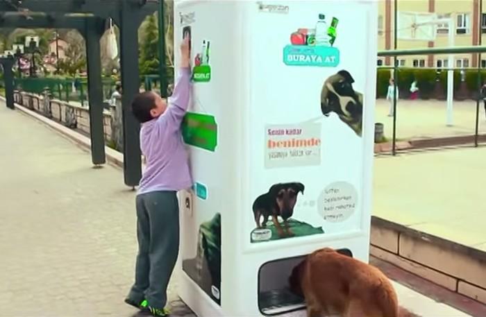 Торговый автомат для бездомных собак