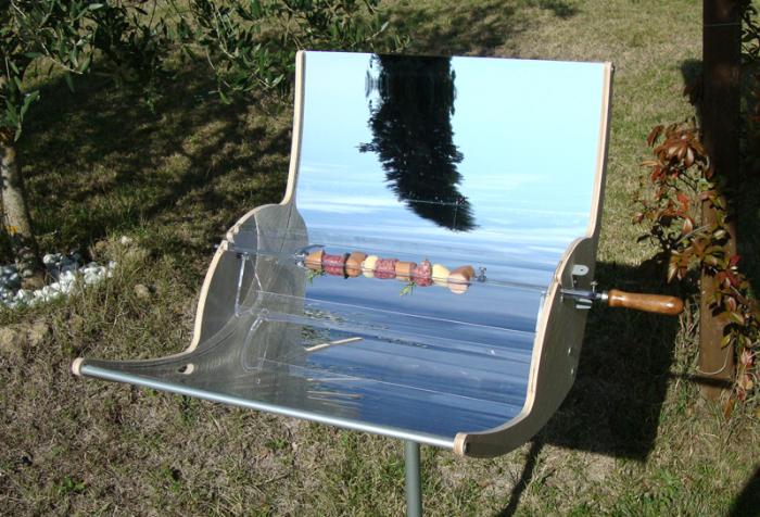 Барбекю на солнечных батареях.