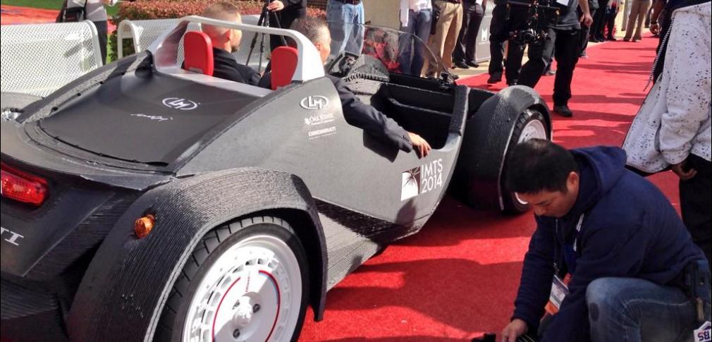 Автомобиль напечатанный на 3D принетере