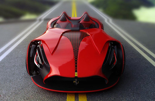 Работающий на солнечной энергии Ferrari Millenio.