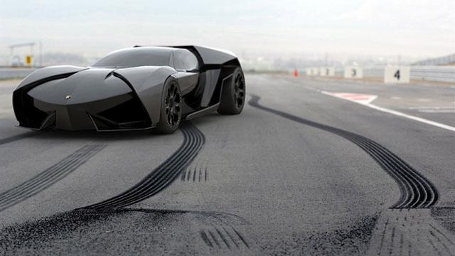Автомобиль бетмена Lamborghini Ankonian.