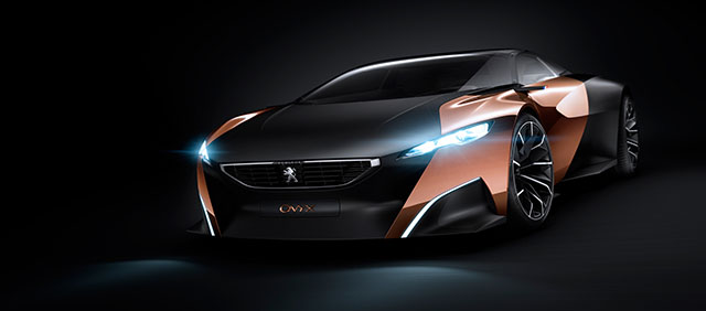 Бумажный Peugeot Onyx.