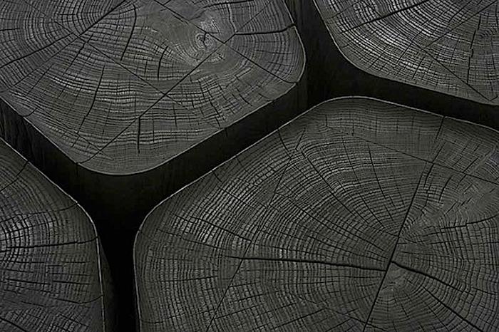 Столы из черного дуба от Normal Studio.