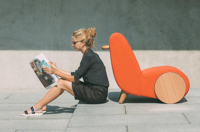 Стильное передвижное кресло Rapide от дизайн-студии ONEMANDU.