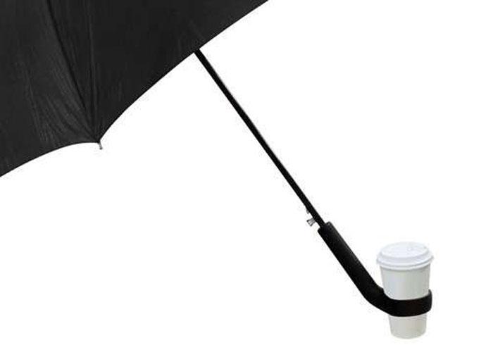 Зонтик с держателем кофейного стакана от Jung-Woo Lee.