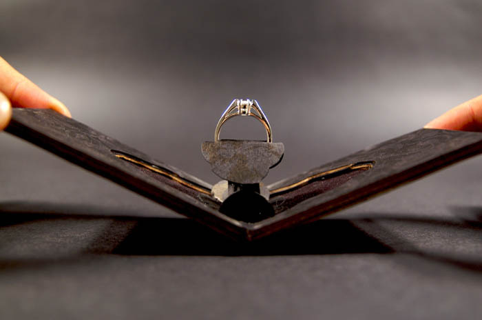 Тонкий футляр для помолвочного кольца от Andrew Zo.