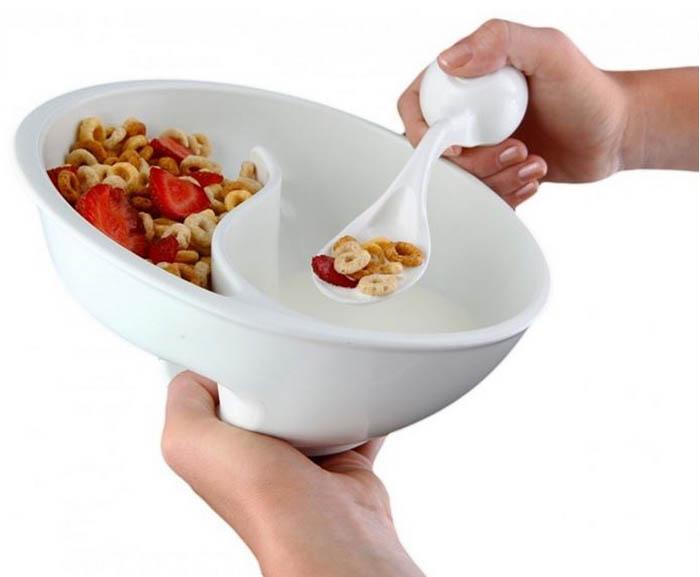 Удобная миска для хлопьев.