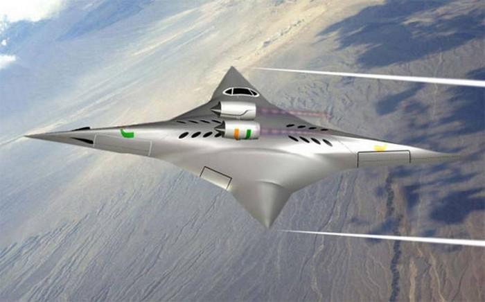 Революционный самолет Supersonic Bidirectional Flying Wing
