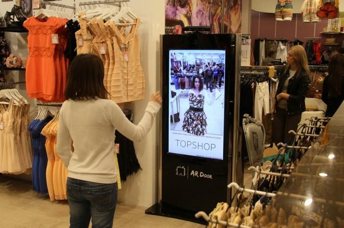 TopShop Kinect – электронная примерочная одежды