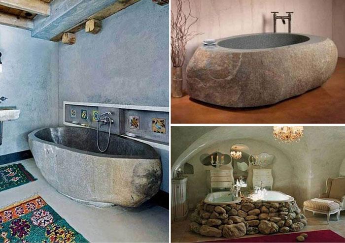 Подборка ванн из натурального камня.
