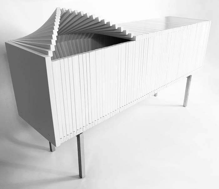 Белый комод от Sebastian Errazuriz.