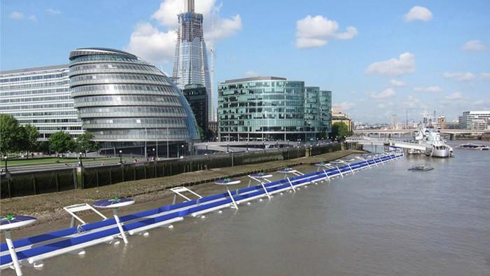 Thames Deckway – удивительная велодорожка по реке Темза в Лондоне
