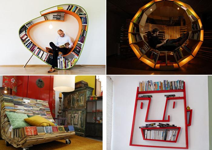 Оригинальная мебель для настоящих книголюбов.