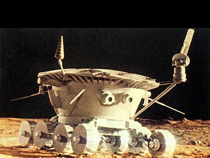 Луноход-1 на поверхности Луны