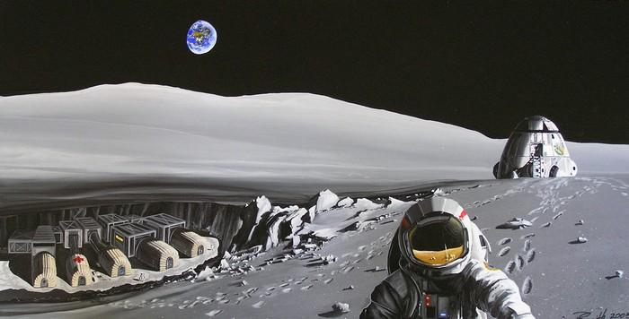 Будущая Российская лунная база