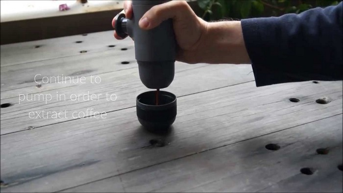 Minipresso – карманная машина для приготовления эспрессо