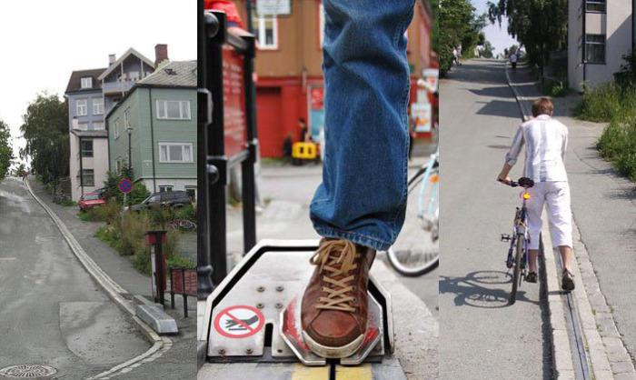 Велосипедный эскалатор