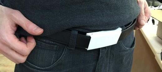 Прототип XOO Belt с пряжкой, распечатанной на 3D-принтере