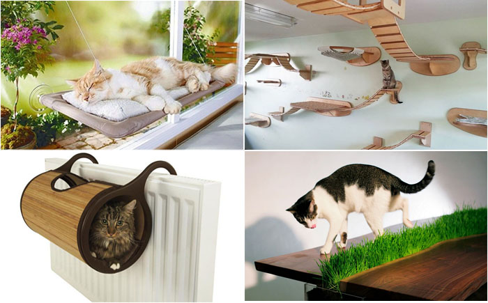 25 классных дизайнерских идей о мебели, радующей кота