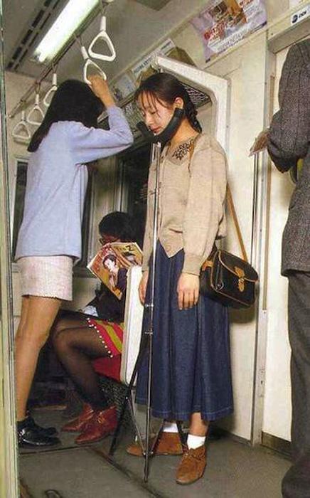 Приспособление для подбородка в метро