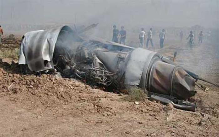 На месте катастрофы самолета иранских ВВС, февраля 2003.