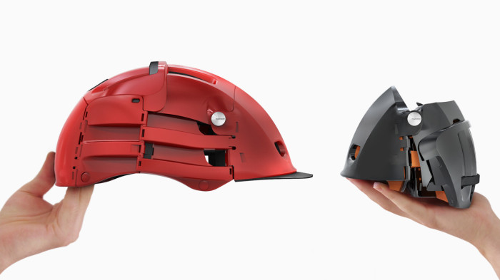 Компактный шлем для велосипедистов.