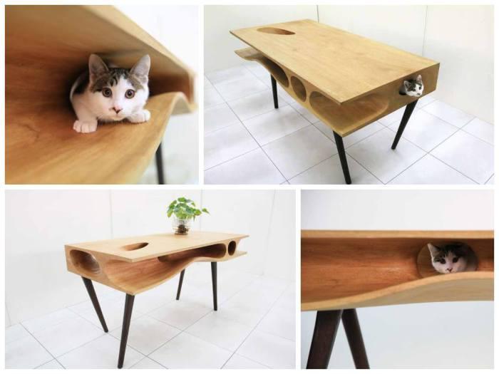 Просторный рабочий стол, который также послужит хорошим местом для игр домашнего питомца.