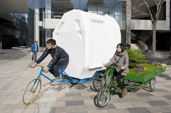 Трицикл-дом и трицикл-сад.